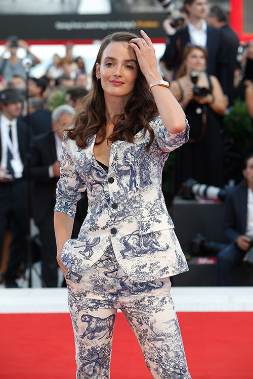 Charlotte Le Bon wearing JLC One Duetto Moon
