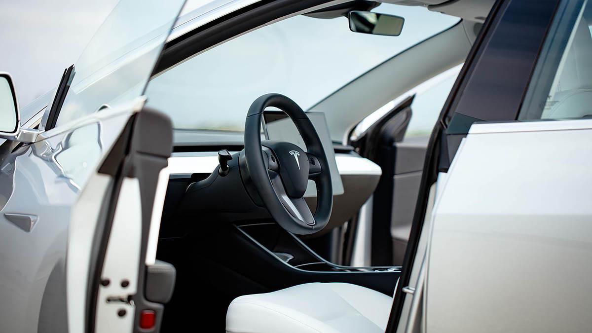 TopGear   Sideways in a Tesla Model 3 Performance with ...