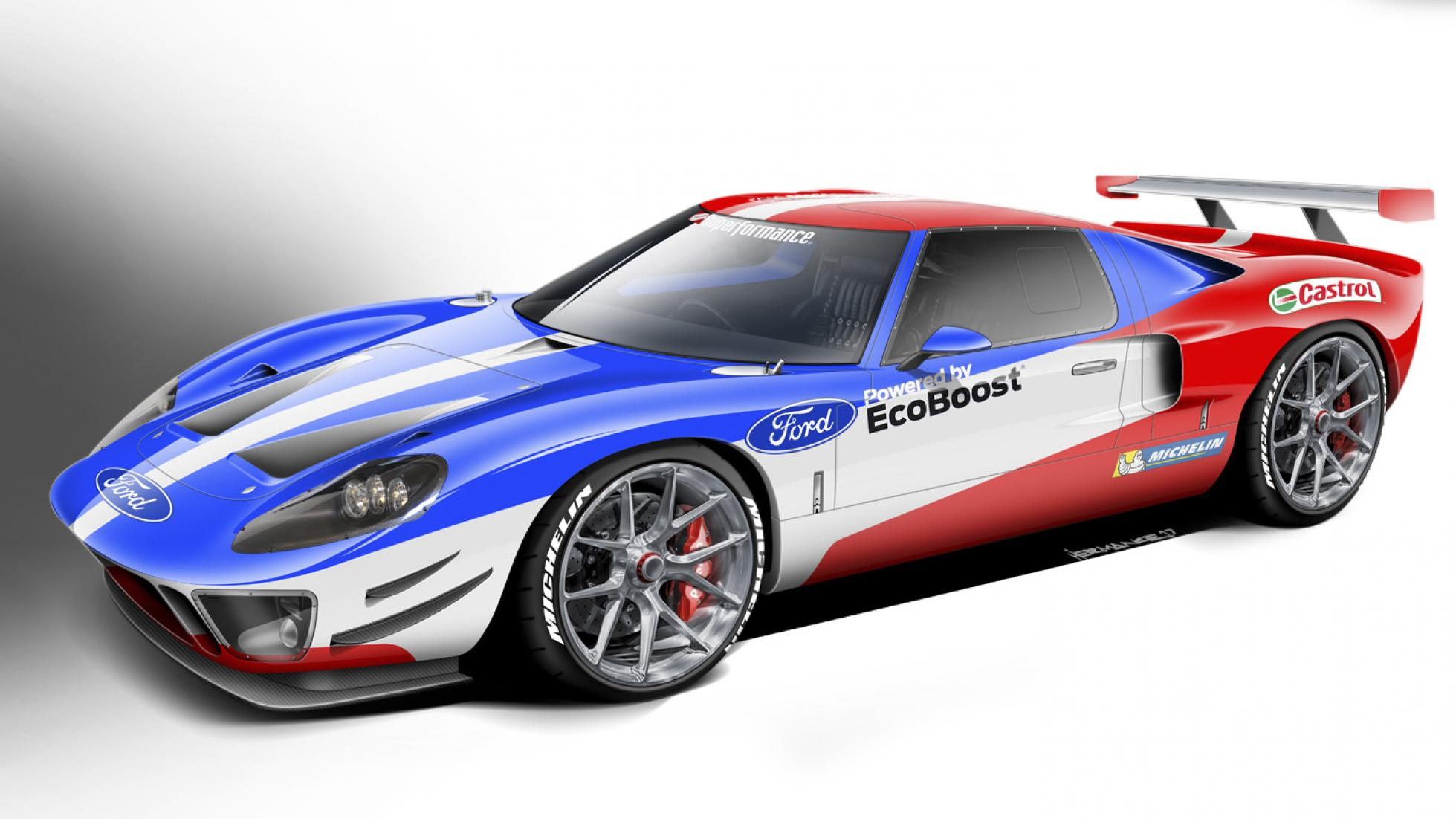 This Is A New Old Continuation One Off Ford Gt With Lots Of Modifications And A Tweaked Engine From The New Ford Gt Racer Got Your Head Wrapped Around