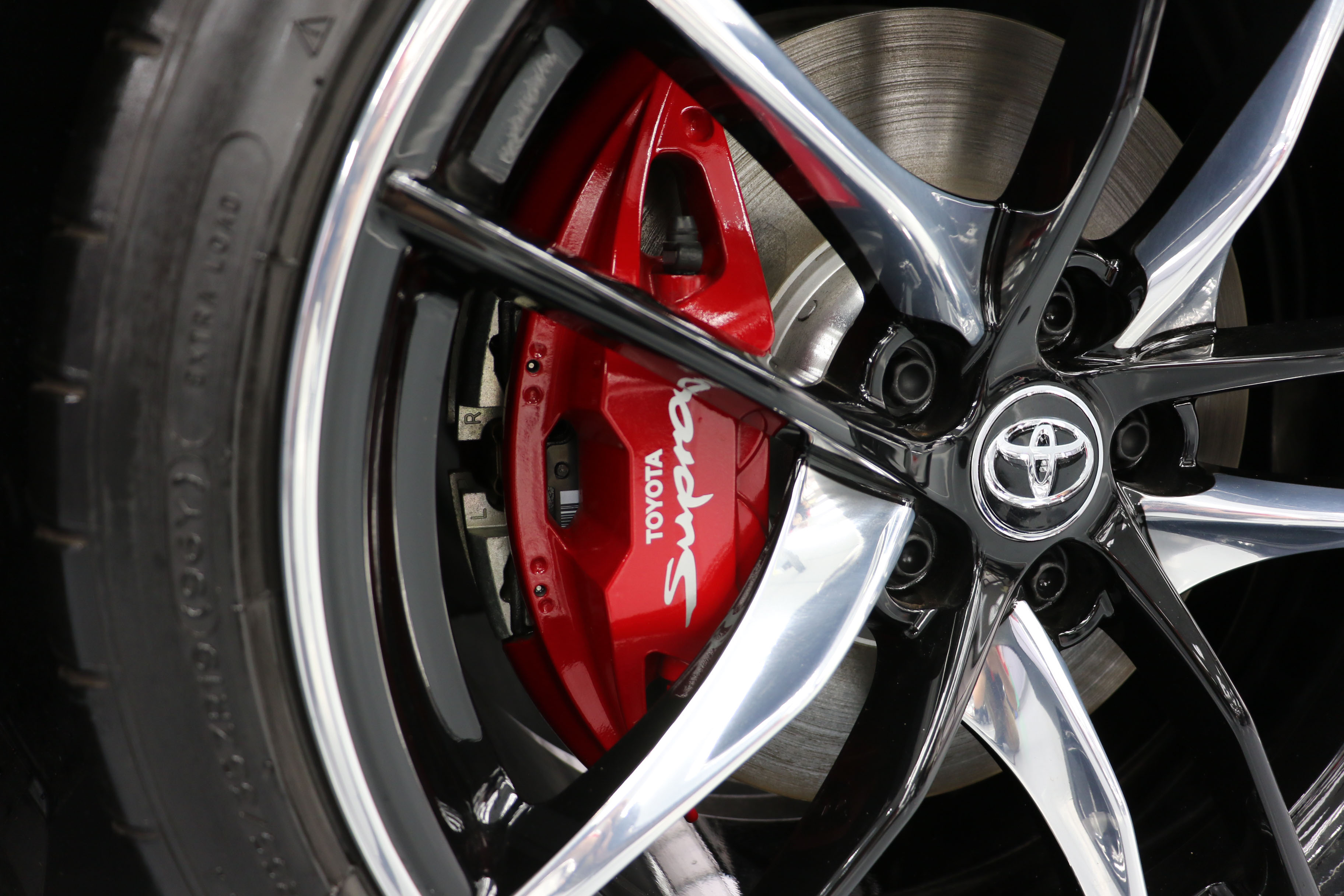 New red-painted brake calipers