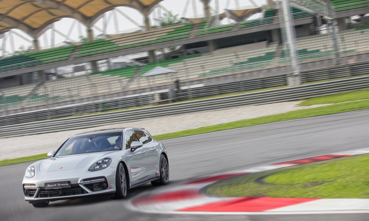 Panamera Sport Turismo, tested at Sepang.